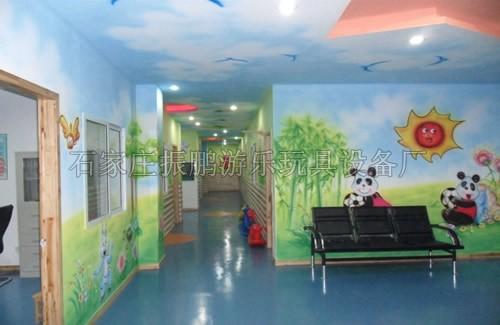 幼儿园墙面手工喷绘图